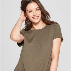 2/$34 360 Sweater Linen Olive Green Sweater